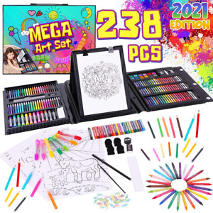 School Art Supplies Painting Drawing Kids Coloring Set Sketch Pad Portable Kit