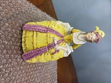 New listing Yellow Dress Lady Powder box Sitzendorf porcelain figurine