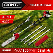 Giantz 62CC Petrol Pole Chainsaw Hedge Trimmer Pruner Chain Saw Brush Cutter