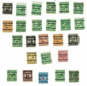 Collection of US Precancels - Pennsylvania