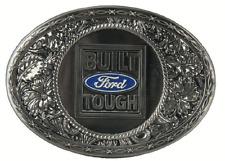 Built Ford Tough Western Silver Enamel Belt Buckle