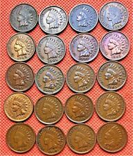 1892-1908 Indian Head Cents, Penny, 20 High Grade Coins #4