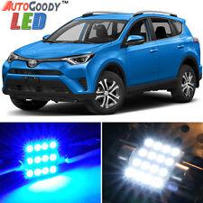 10 x Premium Blue LED Lights Interior Package Kit for Toyota RAV4 06-17 + Tool