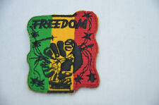 RASTA AFRICA FREEDOM ANC FIST 5x6cm Embroidered Iron Sew On Cloth Patch APPLIQUE