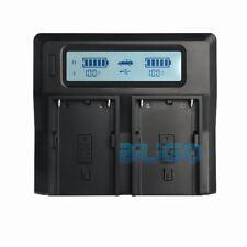 Dual Channel Digital LCD Li-ion Battery Charger For Sony BP-U60 BP-U90 BP-U30