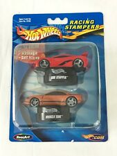 Hot Wheels Racing Stampers Car Set Red Sho Stopper Orange Muscle Tone New