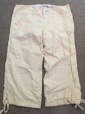 HOLLISTER Yellow Lightweight Cotton Casual Cropped Capri Pants womens 7