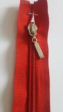 Dark red Plastic Open End Zip,Plastic Teeth, Heavy Duty Zipper 65cm