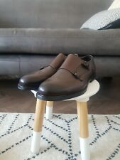 Mens HUGO BOSS Brown Leather Double Monk Shoes, Size 11, NEW, RRP £269