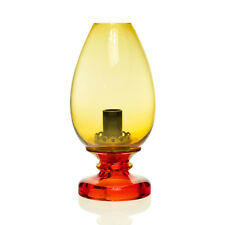 Seguso - Mario Pinzoni - Model 13319 Red/ Amber Hurricane Table Lamp - Murano