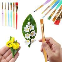 6pcs Colorful Plastic Fondant Cake Brushes Decorating Painting DIY Pastry Set
