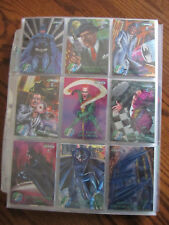 1995 DC Comic Batman Metal Forever Complete Card Set Silver & Gold Movie Preview