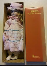 024 Vintage In The Box Brinns Musical Love Story Blonde Porcelain Doll Wind Up