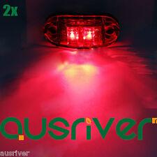 High Quality Red 2x 12V LED Side Marker Clearance Lamp Car Trailer Truck Light