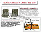 """Royal Enfield """"Light Green"""" Color Military Pannier & Fitting For Classic 350 500"""
