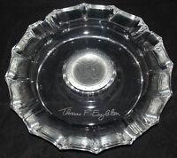 VINTAGE FOSTORIA CRYSTAL GLASS POLITICAL ASHTRAY THOMAS F. EAGLETON US SENATE