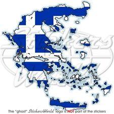GRIECHENLAND LandKarte-Flagge, Griechische Karte-Fahne Auto Aufkleber Sticker