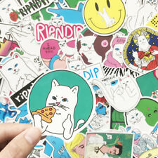 50 Pcs Cool Middle Finger Ripndip Skateboard Sticker Graffiti Notebook Car Decal