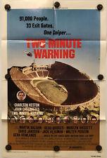 TWO-MINUTE WARNING Original One Sheet Movie Poster - 1976 - CHARLTON HESTON