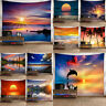 Sunrise Sunset Scenery Poster Beach Ocean Wall Hanging Tapestry Throw Bedspread