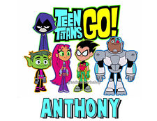 New Teen Titans Go Custom Personalized T Shirt Party Favor Birthday Gift Present