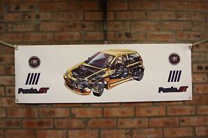 Fiat Punto GT Turbo large pvc show banner work shop garage shed