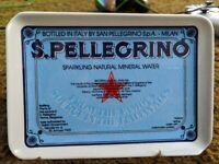 S. Pellegrino Ashtray Plastic Vtg Advertising Ash tip Tray Water Crippa Milano