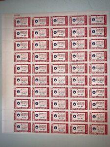 US Stamps SC# 1142 American Credo-Francis Scott Key 4c sheet of 50 MNH 1960