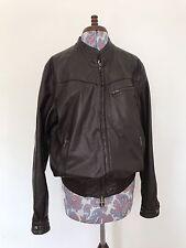 Stylish Men's Vintage Brown Leather Bomber Jacket