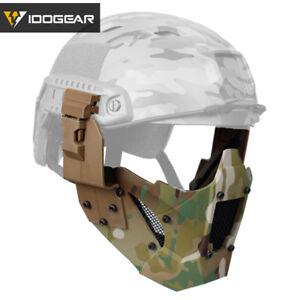 IDOGEAR Airsoft Mask JAY Half Face FAST Helmet Paintball Mask Mesh Tactical