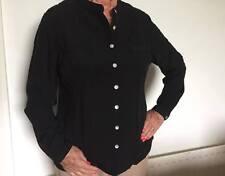 Black smart blouse,shirt, Damart, Work Office (like Marks and Spencer )REDUCED