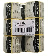 Day Dot Food Label 51mm Square (Sunday) 6 rolls of 500 Rotation Hygiene Catering