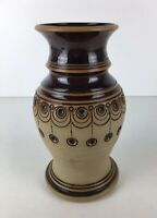 Vintage Stoneware Dark Brown Glazed Studio Pottery Vase Stratford Upon Avon