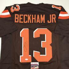 Autographed/Signed Odell Beckham Jr Cleveland Brown Football Jersey Jsa Coa Auto
