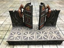 NEW Dwarven Forge Painted Resin Den of Evil 2 x 4 Double Door D&D