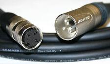 3 Pin Mini/Tuchel - XLR Mikrofon Kabel für MD 421,MD 21, Länge = 5,00m