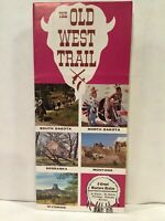 1966 THE OLD WEST TRAIL FOUNDATION 5 Great Western States Travel Brochure & Map