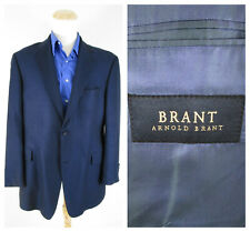 Arnold Brant Dark Navy Bamboo Sport Coat Jacket Size 42R Two Button