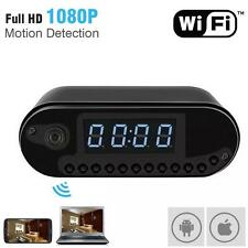 HD 1080P Wireless Wifi IP Spy Hidden Camera Motion Security Alarm Clock IR DV