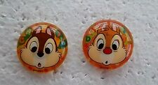 *~*DISNEY CHIP & DALE BUTTON DOME SET OF 2 PINS*~*