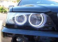 Fari anteriori bmw x5 e53 angel eyes bianchi a led modello xenon d2s di serie