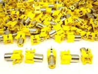 25pcs RCA Phono Audio Video Single Pin PCB Mount Jack DIY Electronic Project NEW