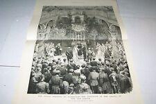 #00-0030 5/10/1884 ANTIQUE PRINT (GERMANY) - ROYAL WEDDING - DARMSTADT - CHAPEL