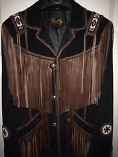 Scully Jacket- Steven Seagal Design -Native American beads/ fringe Sz 40