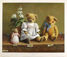 DEBORAH JONES Nursery art print teddy bears NEW LARGE SIZE:40cm x 50cm  RARE