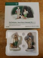 Dept 56 Christmas in the City, House Painter & Newspaper Boy 58966