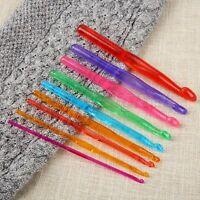 Multicolor Plastic Crochet Hooks Needles Knit Weave DIY Craft Gift 9 PCS/Set