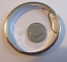 Lovely Vintage Sterling Silver 925 Bangle with Flower Pattern