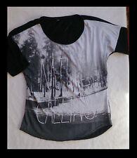 T-shirt Femme marque PIMKIE, Noir et blanc, taille L