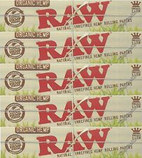 Raw Organic Kingsize Rolling Papers King Size Hemp Paper 5 Packs